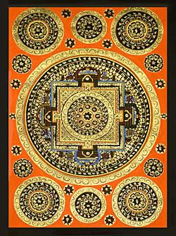 Tirakita 曼陀羅種子 曼荼羅唐卡手繪唐卡曼陀羅佛教印度預訂列印貼紙