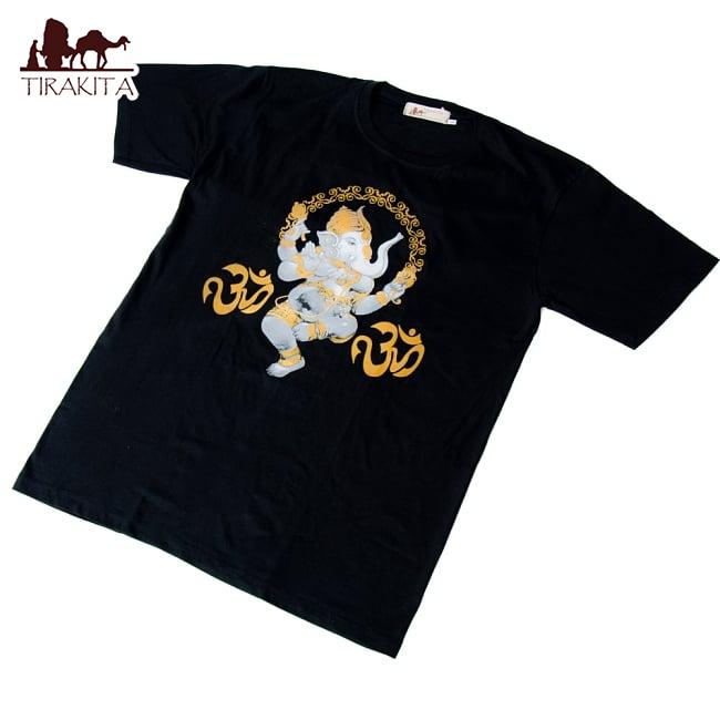 甘尼萨 T 恤印度教神印度泰国民族 T 恤大象跳舞