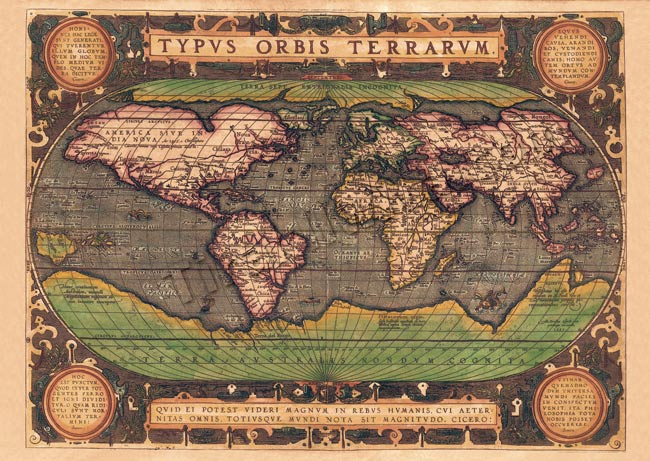 Tirakita Antique Map Poster Typvs Orbis Terrarvm Prints Maps