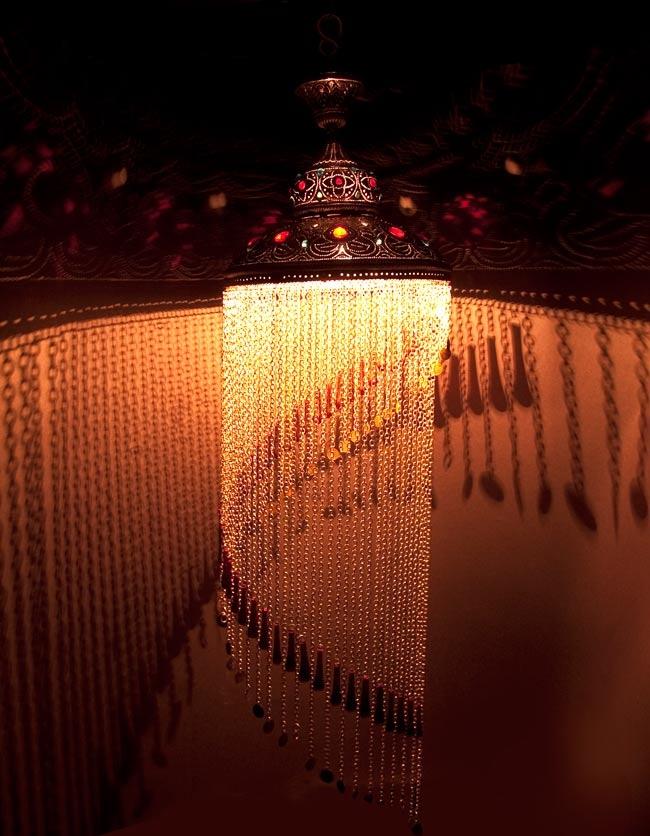 吊り下げタイプ シャンデリア型ハーレムランプ【130cm】 / アラビア風ランプ 送料無料 あす楽