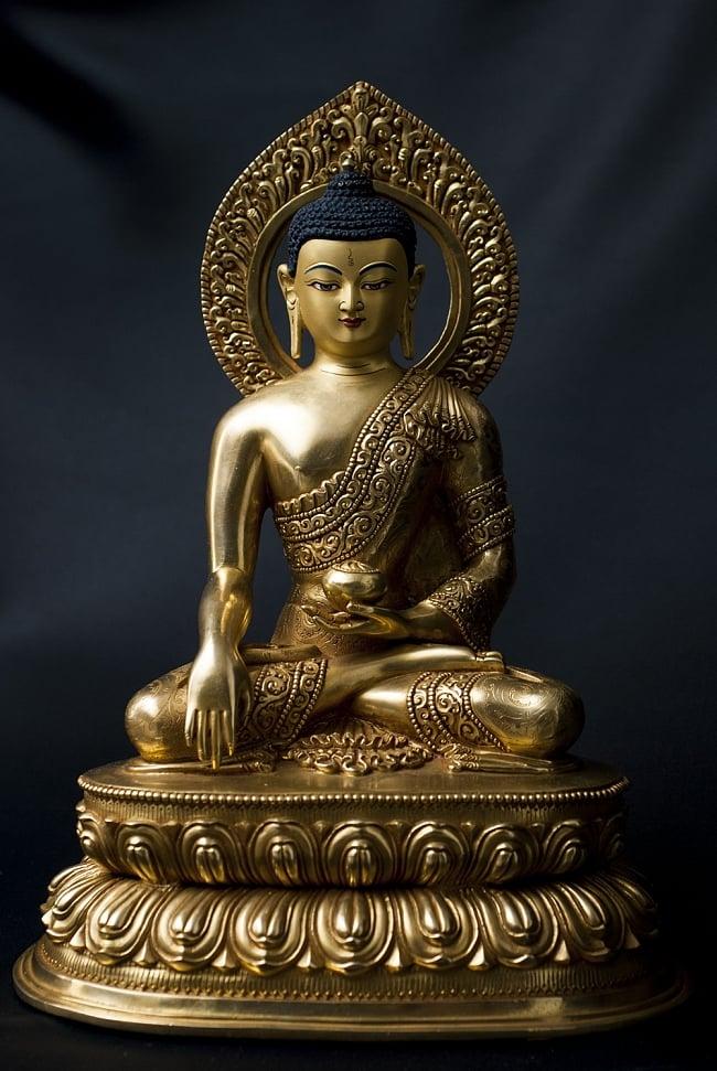 仏陀(ブッダ) 銅造鍍金仕上げ 32cm / 仏像 神像 送料無料 レビューでタイカレープレゼント あす楽