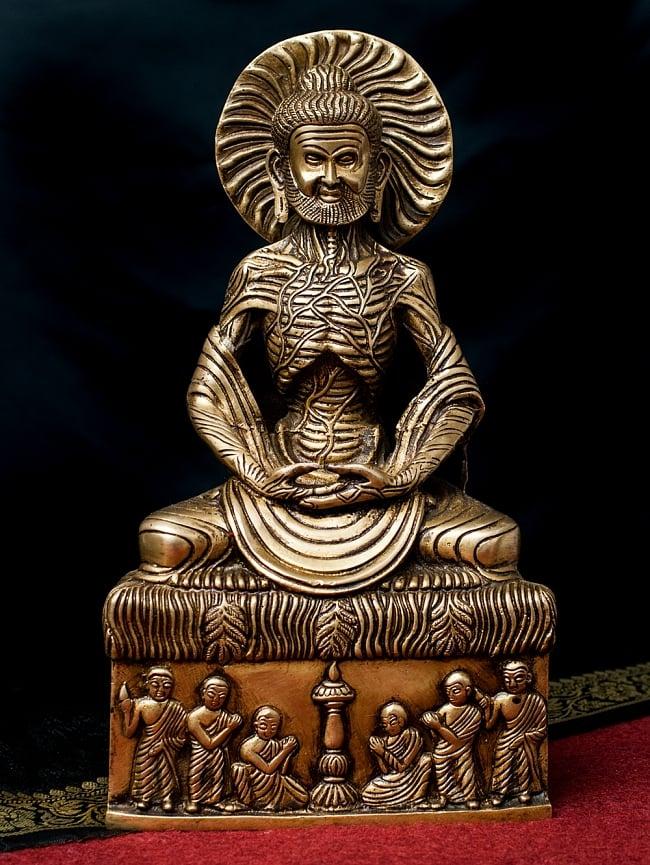 釈迦苦行像 32cm / 菩薩 神様像 ブラス 仏像 送料無料 レビューでタイカレープレゼント あす楽