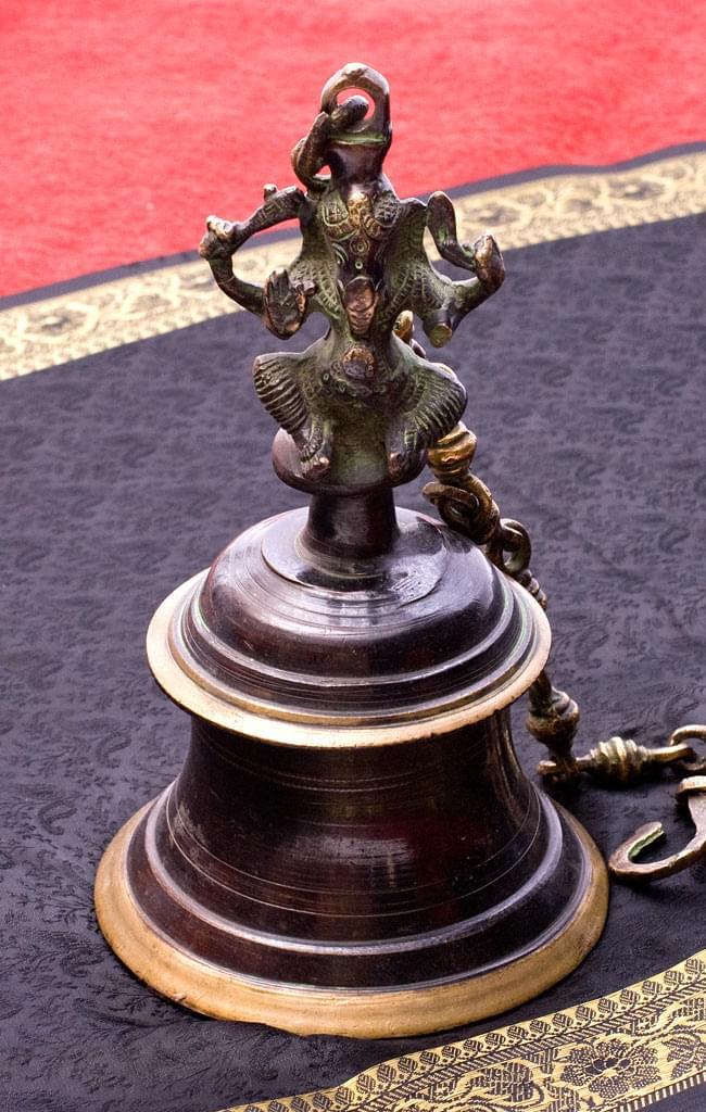 【送料無料】 寺院の鐘 ガネーシャ【一点もの】 / ベル ガンター アジアン インド 風鈴 エスニック 雑貨
