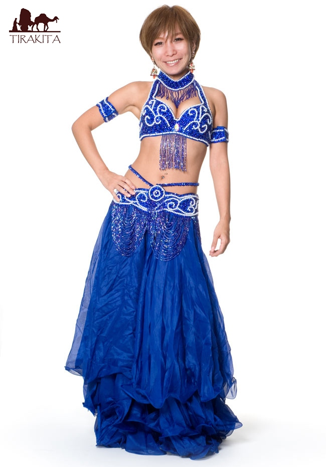 ベリーダンス衣装 ブラ&ベルトセット / ブラ&ベルトセット群舞ブルー/レッド/イエロー/ピンク/ホワイト 送料無料 あす楽