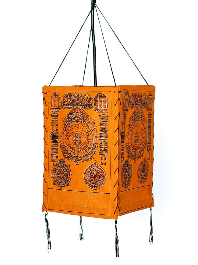 Tirakita rakuten global market all sides lamp shade all sides lamp shade orange system suspension interior lantern lantern lantern lighting horse mackerel ann having spare time japanese paper ethnic mozeypictures Image collections