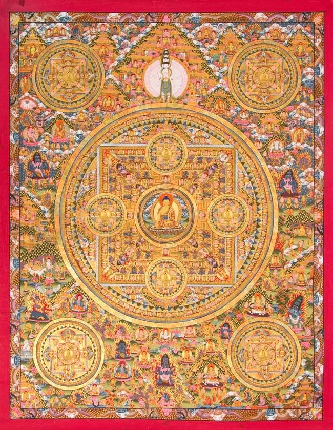 Tirakita 歌 12 佛曼陀羅印度書貼紙列印明信片海報曼荼羅手繪唐卡曼陀羅