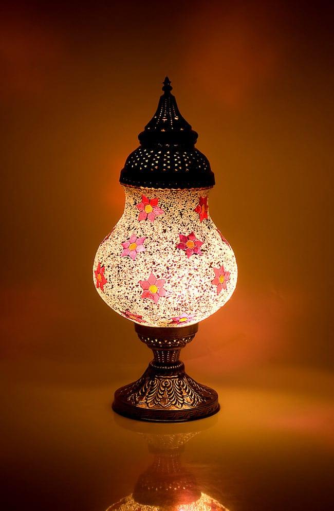 【送料無料】 床置き ハーレムモザイクランプ A / アラビア風ランプ インテリア アジアン ランプシェード エスニック インド 雑貨