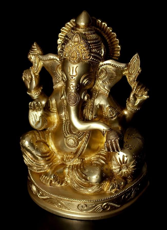ブラス製 座りガネーシャ像 17cm / ヒンドゥー 神様像 仏像 置物 送料無料 レビューでタイカレープレゼント あす楽