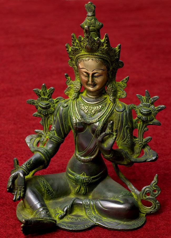 カディラヴァーニー・ターラー(グリーンターラー) 28cm / 菩薩 神様像 ブラス 送料無料 レビューでタイカレープレゼント あす楽