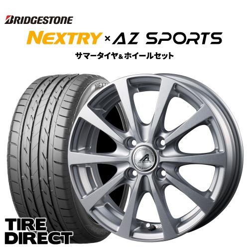 2020年製 新品 ブリヂストン ネクストリー 155/65R14 75S アルミホイールセット AZsports EX-10 14インチ×4.5J BRIDGESTONE NEXTRY 155/65-14 エーゼットスポーツ ex-10 サマータイヤ 夏タイヤ 軽自動車 4本セット※ナットは付属いたしません。