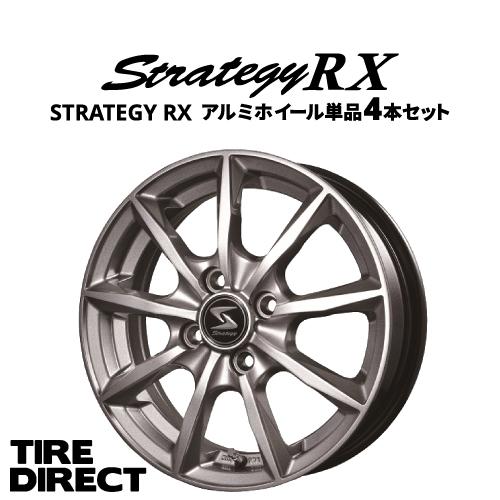 STRATEGY RX 4本セット 14インチ×4.5J 4-100 INSET45 [ホイールのみ単品4本セット]ストラテジー 軽自動車 アルミホイール 4枚 1台分※ナットは付属いたしません