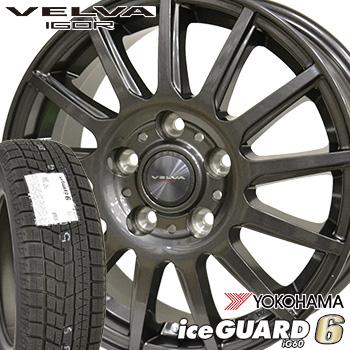 【取付対象】195/60R16 ヨコハマ アイスガード6 iG60 スタッドレスタイヤ ホイールセット 4本 YOKOHAMA iceGUARD6 ヴェルヴァイゴール 16-6.5J 車種例 セレナ