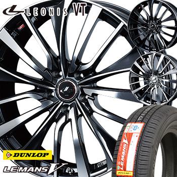 【取付対象】 【2019年製~】 215/50R17 ダンロップ ルマン5 サマータイヤ ホイールセット 4本 DUNLOP LEMAN5 LM705 低燃費タイヤ レオニスVT 17-7.0J 車種例 レヴォーグ