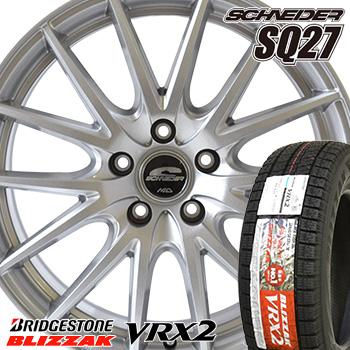 【取付対象】 【2019年製~】 215/55R16 ブリヂストン ブリザック VRX2 スタッドレスタイヤ ホイールセット 4本 BRIDGESTONE BLIZZAK VRX2 シュナイダー SQ27 16-6.5J