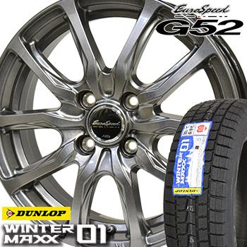 【取付対象】 【2019年製~】 235/50R18 ダンロップ ウインターマックス WM01 スタッドレスタイヤ ホイールセット 4本 DUNLOP WINTER MAXX ユーロスピードG52 18-8.0J 車種例 アルファード ベルファイア