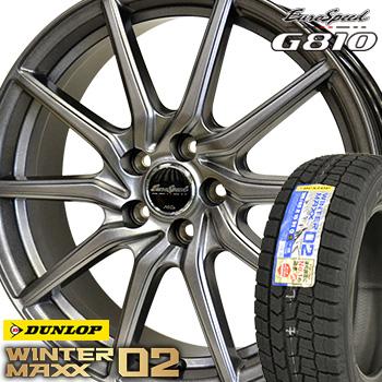 【取付対象】 【2019年製~】 175/65R14 ダンロップ ウインターマックス WM02 スタッドレスタイヤ ホイールセット 4本 DUNLOP WINTER MAXX ユーロスピードG810 14-5.5J 車種例 フィット デミオ ノート コルト