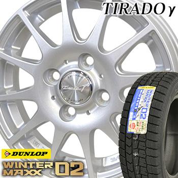 【取付対象】【2018年製】 225/60R16 ダンロップ ウインターマックス WM02 スタッドレスタイヤ ホイールセット 4本 DUNLOP WINTER MAXX ティラードガンマ 16-6.5J