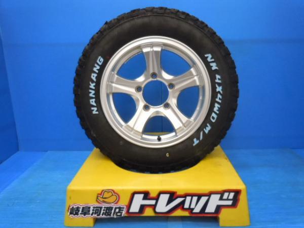 【中古+新品】Weds キーラー 16x5.5J +19 139.7 5H + ナンカン 4X4WD M/T FT-9 175/80R16 4本セット
