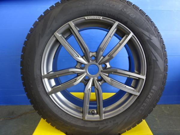 【中古】送料無料 希少品 ケレナーズ Jr GF5 18インチ7.5J+32 5H112+ピレリ アイスアシンメトリコ 225/60R18 225/60-18 BMW G01 X3に