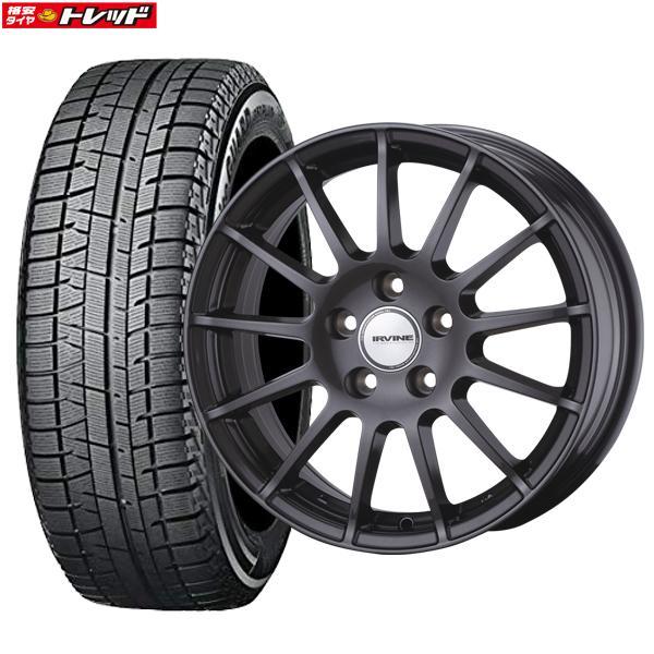 【送料無料】新品タイヤ 4本セット Weds ウェッズ IRVINE F01 8J-18 +40 112 5H + ヨコハマ iceGUARD IG50 245/45R18 格安スタッドレス 国産
