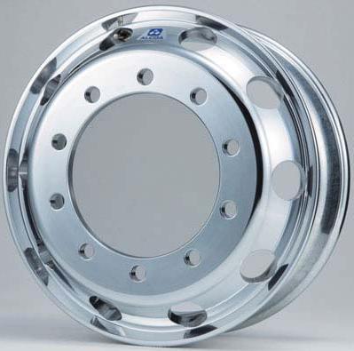 ARCONIC アーコニック アルミホイール 17.5×6.00 10穴 飾り穴10穴 オフセット133mm 平面座ISO 26φ (トレーラー用)