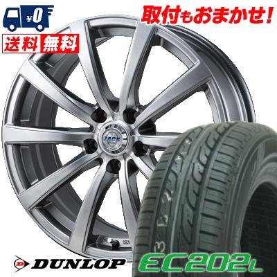 215/60R16 95H ダンロップ DUNLOP EC202L ZACK JP-110 サマータイヤホイール4本セット低燃費 エコタイヤ