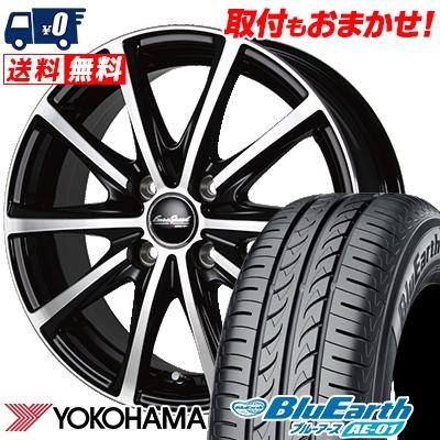 175/60R15 81H YOKOHAMA ヨコハマ BluEarth AE-01 ブルーアース AE01 EuroSpeed V25 ユーロスピード V25 サマータイヤホイール4本セット