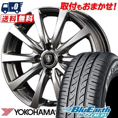 155/65R14 75S YOKOHAMA ヨコハマ BluEarth AE-01 ブルーアース AE01 Euro Speed G10 ユーロスピード G10 サマータイヤホイール4本セット