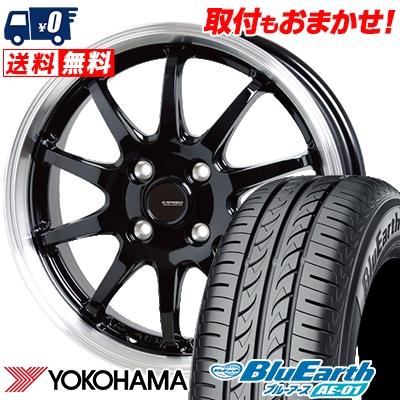 165/65R13 77S YOKOHAMA ヨコハマ BluEarth AE-01 ブルーアース AE01 G.speed P-04 ジースピード P-04 サマータイヤホイール4本セット