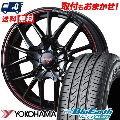 165/55R15 75V YOKOHAMA ヨコハマ BluEarth AE-01 ブルーアース AE01 WEDS NOVARIS ROHGUE SH ウェッズ ノヴァリス ローグ SH サマータイヤホイール4本セット