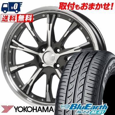 165/60R15 77H YOKOHAMA ヨコハマ BluEarth AE-01 ブルーアース AE01 Cliff Climb TC-02 クリフクライム TC02 サマータイヤホイール4本セット