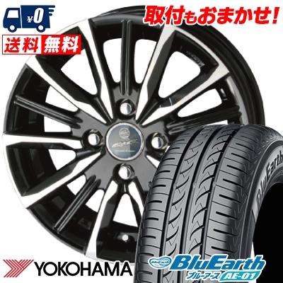 155/65R14 75S YOKOHAMA ヨコハマ BluEarth AE-01 ブルーアース AE01 SMACK VALKYRIE スマック ヴァルキリー サマータイヤホイール4本セット