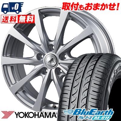 215/60R16 95H YOKOHAMA ヨコハマ BluEarth AE-01F ブルーアース AE01F AZ SPORTS EX10 AZスポーツ EX10 サマータイヤホイール4本セット