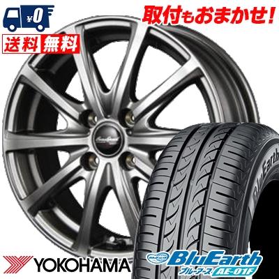 185/55R16 83V YOKOHAMA ヨコハマ BluEarth AE-01F ブルーアース AE01F EuroSpeed V25 ユーロスピード V25 サマータイヤホイール4本セット