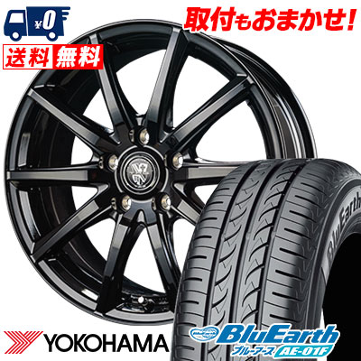 195/65R15 91H YOKOHAMA ヨコハマ BluEarth AE-01F ブルーアース AE01F TRG-GB10 TRG GB10 サマータイヤホイール4本セット