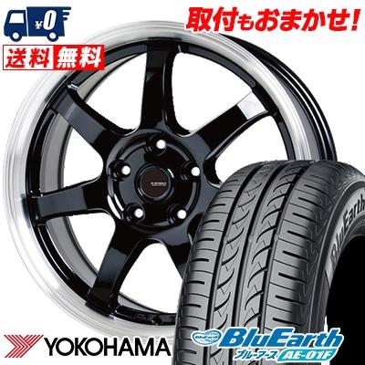 205/60R16 92H YOKOHAMA ヨコハマ BluEarth AE-01F ブルーアース AE01F G.speed P-03 ジースピード P-03 サマータイヤホイール4本セット