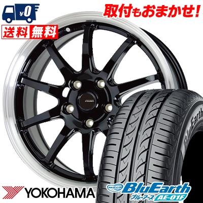 195/60R16 89H YOKOHAMA ヨコハマ BluEarth AE-01F ブルーアース AE01F G.speed P-04 ジースピード P-04 サマータイヤホイール4本セット
