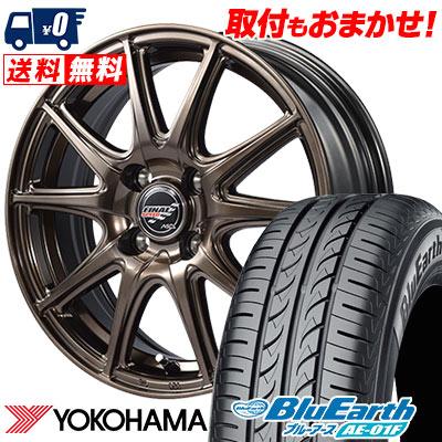 185/65R15 88S YOKOHAMA ヨコハマ BluEarth AE-01F ブルーアース AE01F FINALSPEED GR-Volt ファイナルスピード GRボルト サマータイヤホイール4本セット