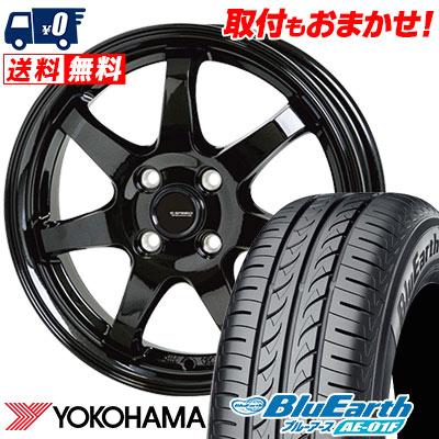 185/65R14 86S YOKOHAMA ヨコハマ BluEarth AE-01F ブルーアース AE01F G.speed G-03 Gスピード G-03 サマータイヤホイール4本セット