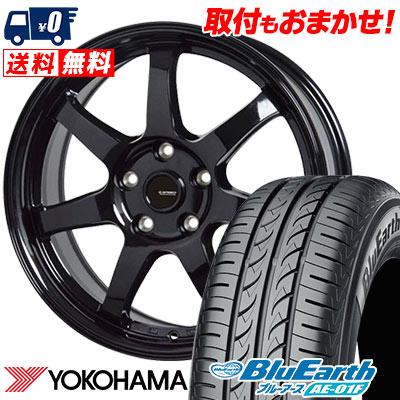 195/60R16 89H YOKOHAMA ヨコハマ BluEarth AE-01F ブルーアース AE01F G.speed G-03 Gスピード G-03 サマータイヤホイール4本セット