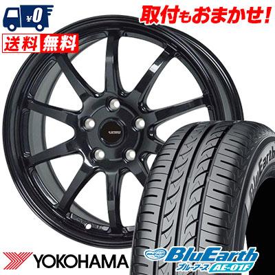 205/60R16 92H YOKOHAMA ヨコハマ BluEarth AE-01F ブルーアース AE01F G.speed G-04 Gスピード G-04 サマータイヤホイール4本セット