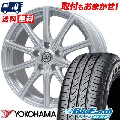 195/60R15 88H YOKOHAMA ヨコハマ BluEarth AE-01F ブルーアース AE01F TRG-SS10 TRG SS10 サマータイヤホイール4本セット
