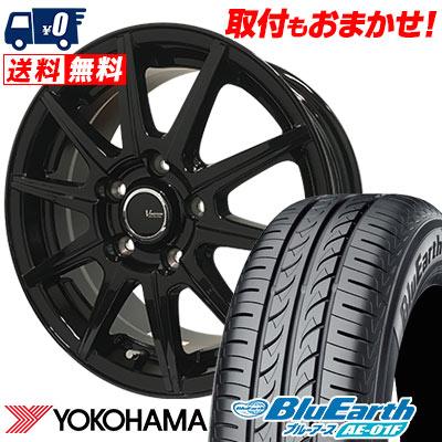 215/60R16 95H YOKOHAMA ヨコハマ BluEarth AE-01F ブルーアース AE01F V-EMOTION BR10 Vエモーション BR10 サマータイヤホイール4本セット