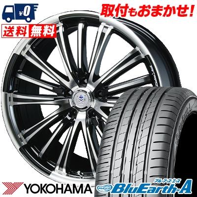 235/35R19 91W XL YOKOHAMA ヨコハマ BluEarth-A AE50 ブルーアース エース AE-50 BAHNS TECK VR-01 バーンズテック VR01 サマータイヤホイール4本セット