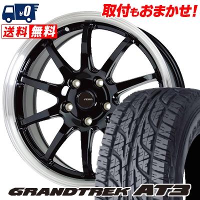 215/65R16 98H DUNLOP ダンロップ GRANDTREK AT3 グラントレック AT3 G.speed P-04 ジースピード P-04 サマータイヤホイール4本セット