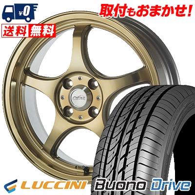 185/55R15 LUCCINI ルッチーニ Buono Drive ヴォーノ ドライヴ 5ZIGEN PRORACER FN01R-Cα 5ジゲン プロレーサー FN01R-Cアルファ サマータイヤホイール4本セット