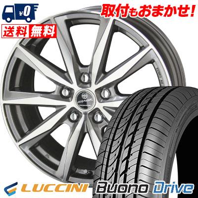 205/55R16 91V LUCCINI ルッチーニ Buono Drive ヴォーノ ドライヴ SMACK BASALT スマック バサルト サマータイヤホイール4本セット