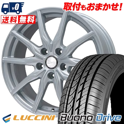 215/65R15 LUCCINI ルッチーニ Buono Drive ヴォーノ ドライヴ B-WIN KRX B-WIN KRX サマータイヤホイール4本セット