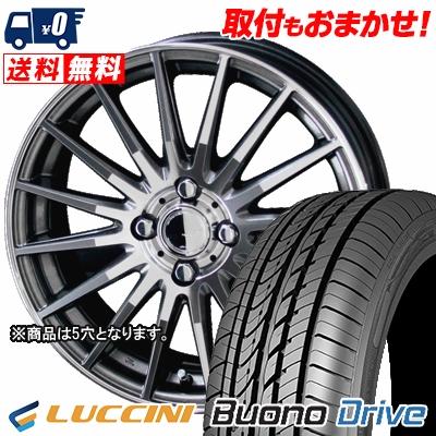 215/65R15 100H XL LUCCINI ルッチーニ Buono Drive ヴォーノ ドライヴ CIRCLAR VERSION DF サーキュラー バージョン DF サマータイヤホイール4本セット