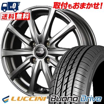 185/55R15 LUCCINI ルッチーニ Buono Drive ヴォーノ ドライヴ EuroSpeed V25 ユーロスピード V25 サマータイヤホイール4本セット